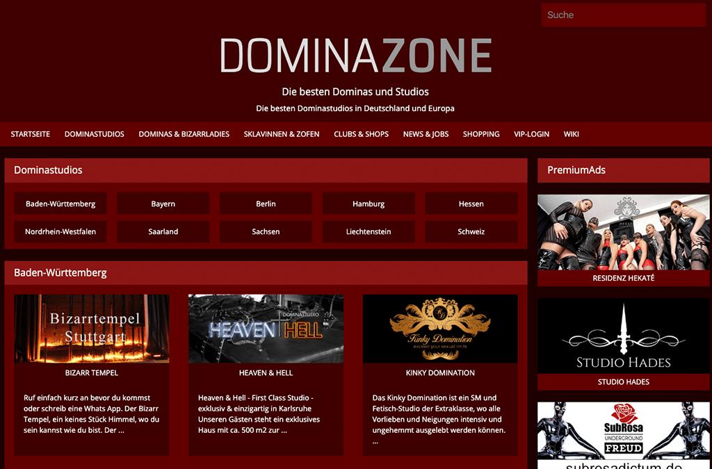 In der Domazone findest du ein gepflegtes Verzeichnis an Dominastudios