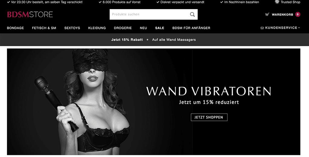 BDSMStore zählt ebenfalls zu unseren Empfehlungen an BDSM- & Fetisch-Shops