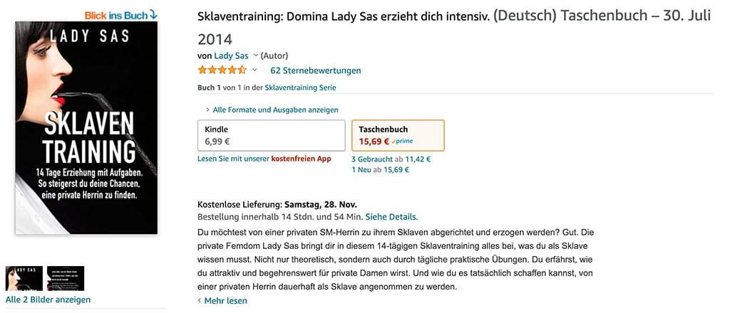 Dieses Buch verspricht dir ein hartes Sklaventraining von Lady Sas